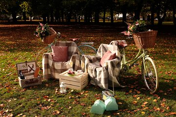 Champagne Picnic Hamper for 2 with Retro Bicycles Manchester