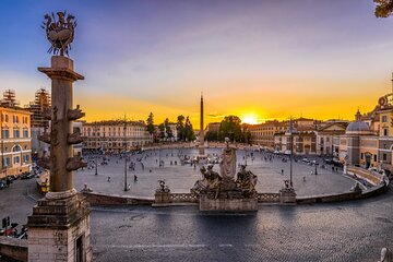 Rome Evening Panoramic Walking Tour Including Trevi Fountain and Spanish Steps