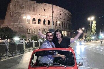 Fiat 500 Night tour of Rome