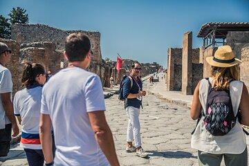 Day Trip to Pompeii Ruins & Mt. Vesuvius Volcano from Naples