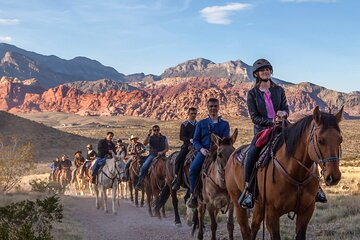 Red Rock Canyon Sunset Horseback Ride and Barbeque