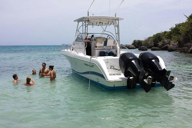 Snorkel privado final e passeio de barco na praia Ocho Rios