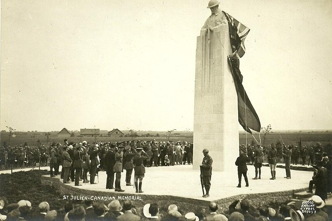 Private Vimy and Belgium Canadian Battlefield Tour from Bruges