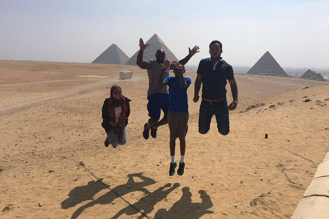 Day Tour to Giza pyramids Egyptian Museum Old Cairo and Khan El Khalili Bazaar