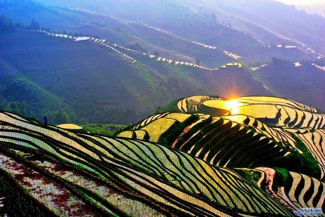Excursão de ônibus de dia inteiro: Terraços de arroz Longji e aldeias de minorias locais