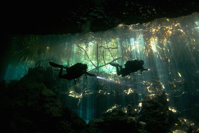 Excursión submarina con 2 tanques en cenotes y cavernas