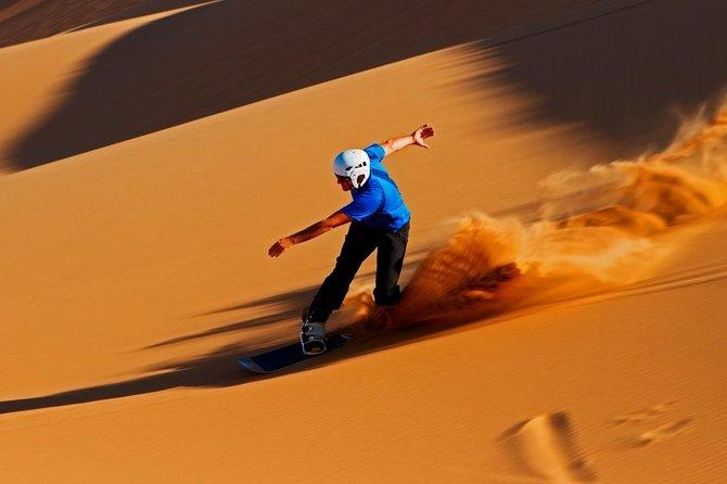 Best Dubai Desert Safari- Quad Biking & Dun Bashing & Sand Boarding with BBQ