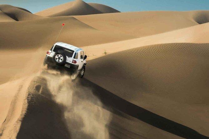 Abu Dhabi Morning Desert Safari- 4x4 Dune Bashing & Camel Ride & Bedouin Camp