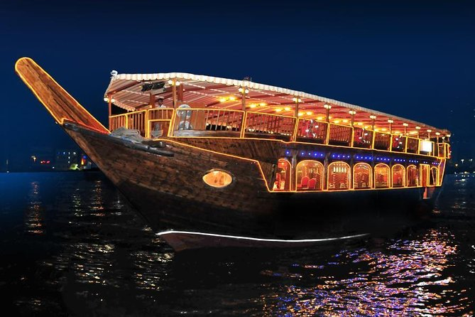 Abu Dhabi Dhow Dinner Cruise- Romantic Evening with Authentic Arabic Cuisine