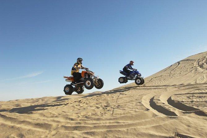 Best of Abu Dhabi Desert Safari Thrilling Quad Bike and 4W Dune Bashing