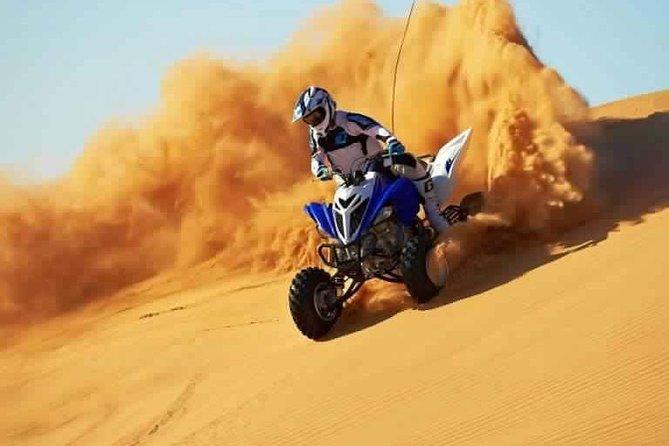 Dubai Desert Safari with Quad Bike & Dune Bashing & Camel Ride & BBQ Dinner