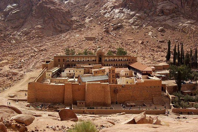 Mount Moses and Saint Catherine's Monastery from dahab
