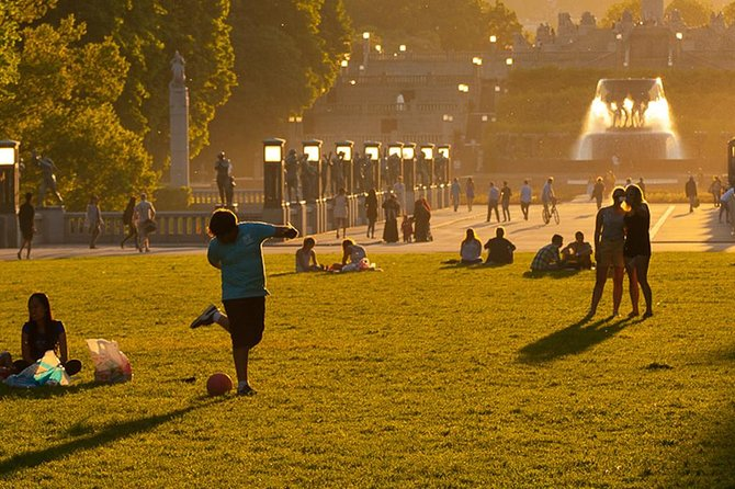 Vigeland Park Sunset