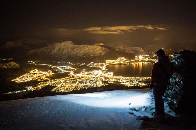 Night Ski Touring with Headlamps in the Sunnmøre Alps