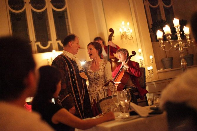 Mozart Dinner Concert at the Baroque Hall of St Peter`s Abbey in Salzburg