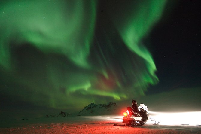 Northern Lights Snowmobiling Experience on Langjökull Glacier from Gullfoss photo 1