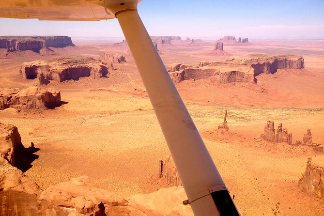 Aircraft strut over Monument Valley