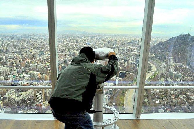 Privé fietstour door Santiago met Sky Costanera panoramisch bezoek