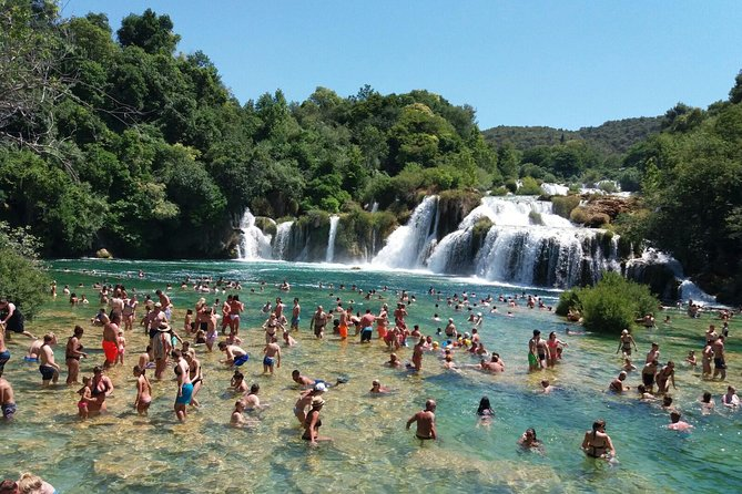 Krka Waterfalls with 30min river cruise from Split or Kaštela