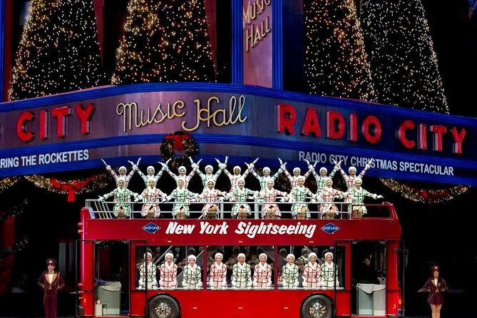 Rockettes Christmas Show.Nyc Radio City Christmas Show Double Decker Bus Downtown