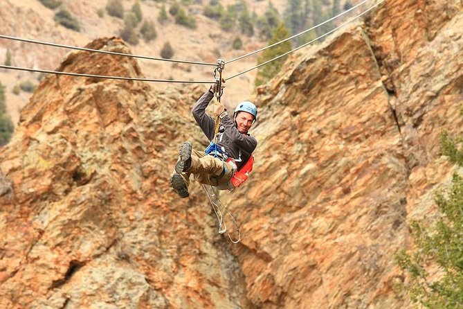 Idaho Springs Cliffside Zipline y caída libre