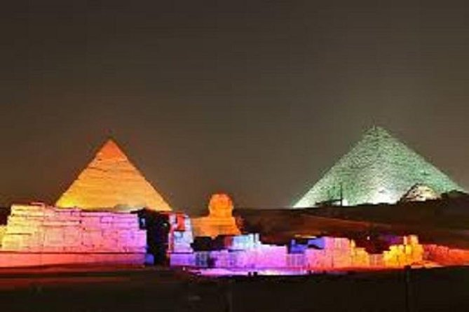 Light and Sound Show at the Pyramids and Sphinx with Private Transfer