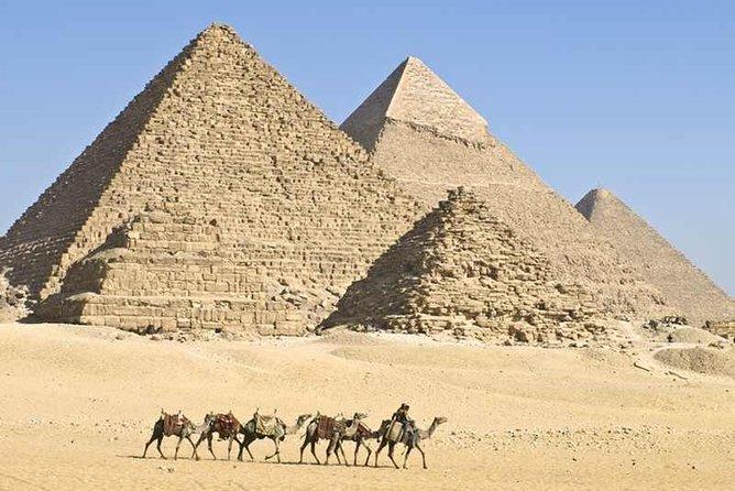 Recorrido de un día privado a las pirámides de Giza, la Esfinge, Menfis y Dahshur