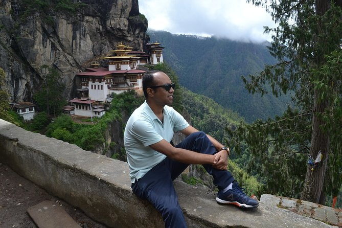 With view of Tiger Nest