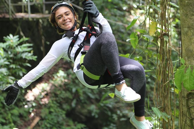 JungleQui Zipline Adventure from withTransportation from San Juan