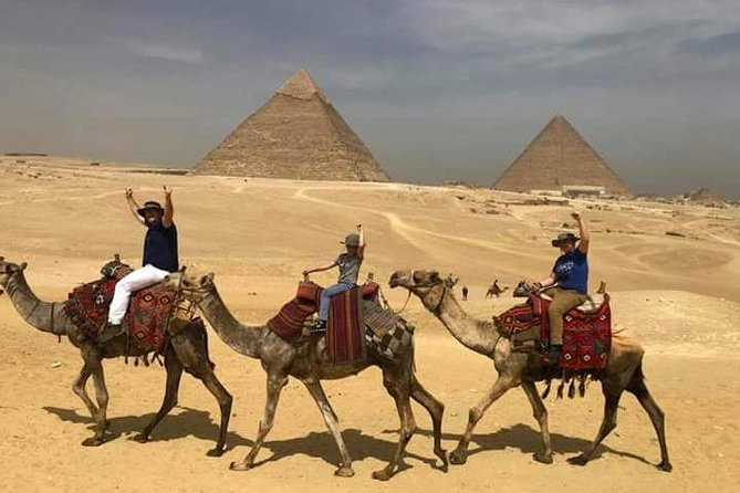 Cairo Layover Tour to Giza Pyramids Sphinx,Coptic Cairo & Old Bazaar