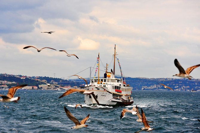 Afternoon Bosphorus Boat and Bus Tour with cable car from Pierre Loti Coffee
