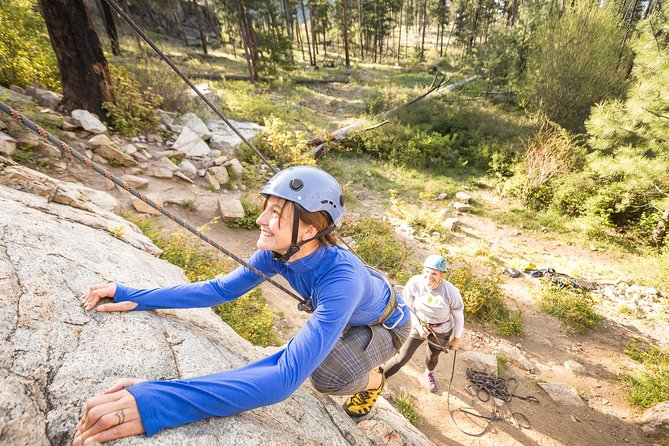 Guided rock climbing experience