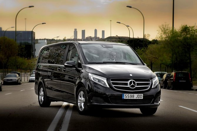 Nice Airport departure private transfer from Nice city in Luxury Van