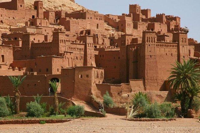 Viagem privada de dia inteiro a Ouarzazate e Kasbahs UNESCO de Marrakech