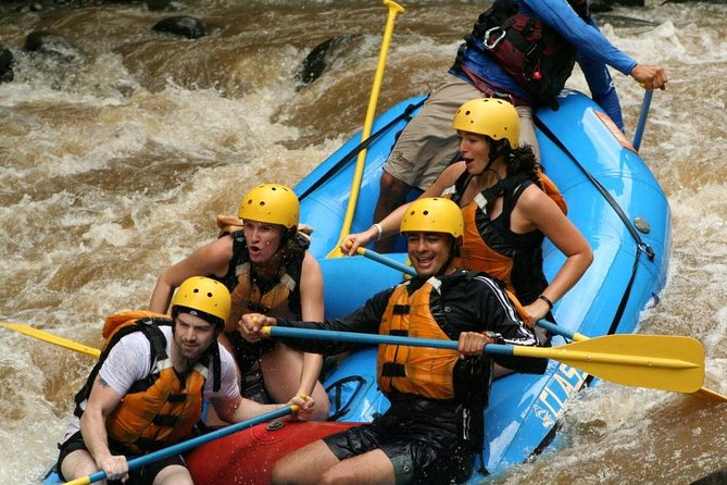 Best combination: Rafting level III with canyoning in waterfalls with tarzan swing , the nearest San Jose