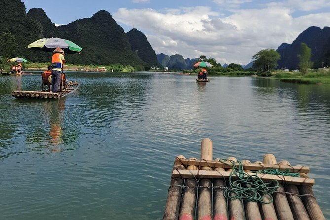 1 Dia Yangshuo Ciclismo Rural e Yulong barco de bambu Tour Privado