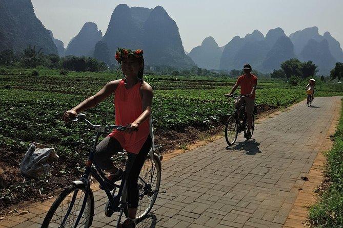 1 Day Yangshuo Cycling and Short Hiking along the Li-River from Xingping