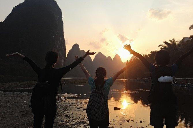 Full-Day Yangshuo Yulong River & Li-River Hiking Private Tour