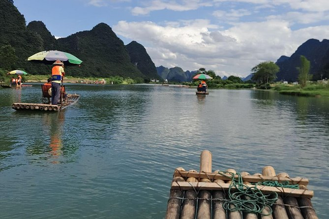 Guilin airport(KWL) Pick up and Yangshuo Yulong bamboo boat Private Day Tour