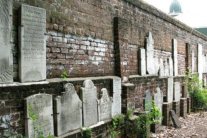 Colonial Park Cemetery wall of markers