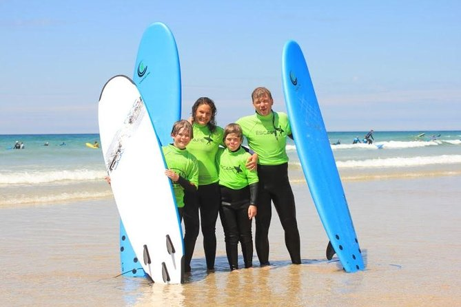 Private Family Surf Lesson in Newquay (for 2 adults and 2 children 8-18 years)