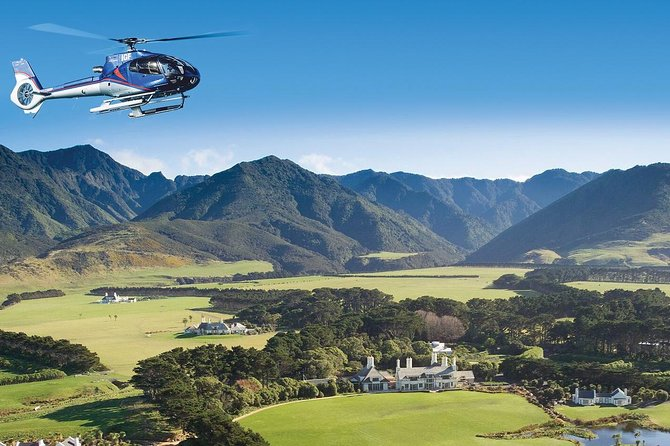Wharekauhau Helicopter Tour with 5-Course Lunch from Wellington