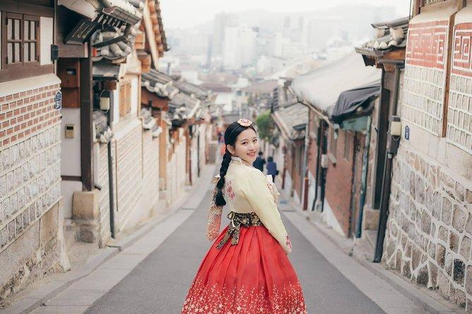 6fdd35cc6b6 24-timers Hanbok (Traditionel Koreansk Kjole) Udlejning i Seoul 2019