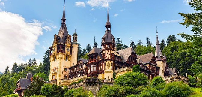 One Day Private Tour to Peles and Dracula Castles PLUS Brasov City