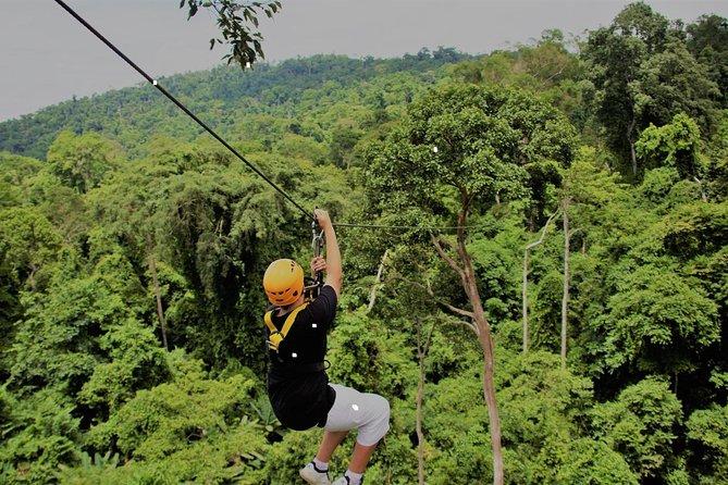 Volo della Gibbon Zipline Experience Da Bangkok e Pattaya