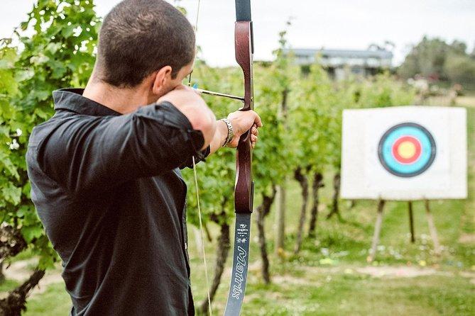 Combat de tir à l'arc et Laser Claybird sur l'île Waiheke