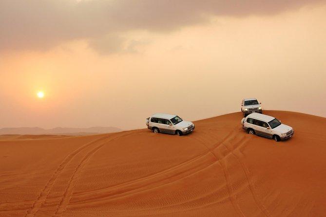 Safari nel deserto a Dubai con cena con barbecue, giro in cammello e spettacoli