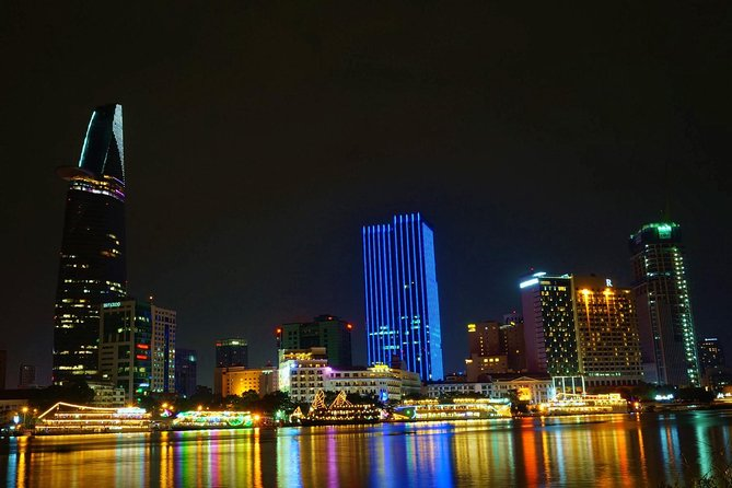 3-hour Saigon Nightlife tour on motorbike: Sky bar - Dinner and Local insights