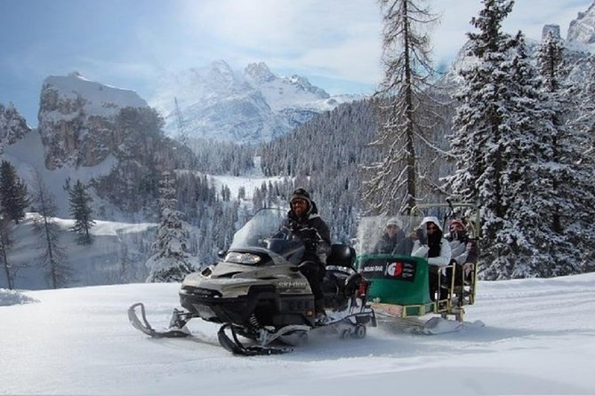 From Bolzano - Snowmobile & Sledding and The Great Dolomites Road Private Tour