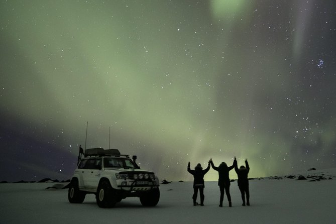 Northern Lights on Eyjafjallajökull by Super Jeep photo 1